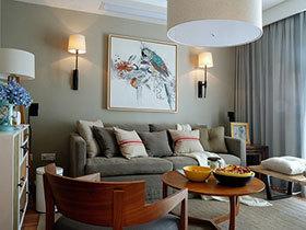 艺术风装饰画 16张美式沙发背景墙设计图