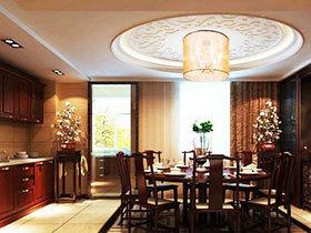 瓷砖装饰餐厅 14款别致中式餐厅图片