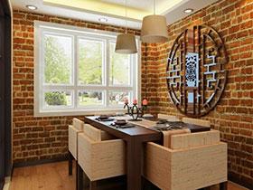 个性餐厅设计 16张中式背景墙效果图