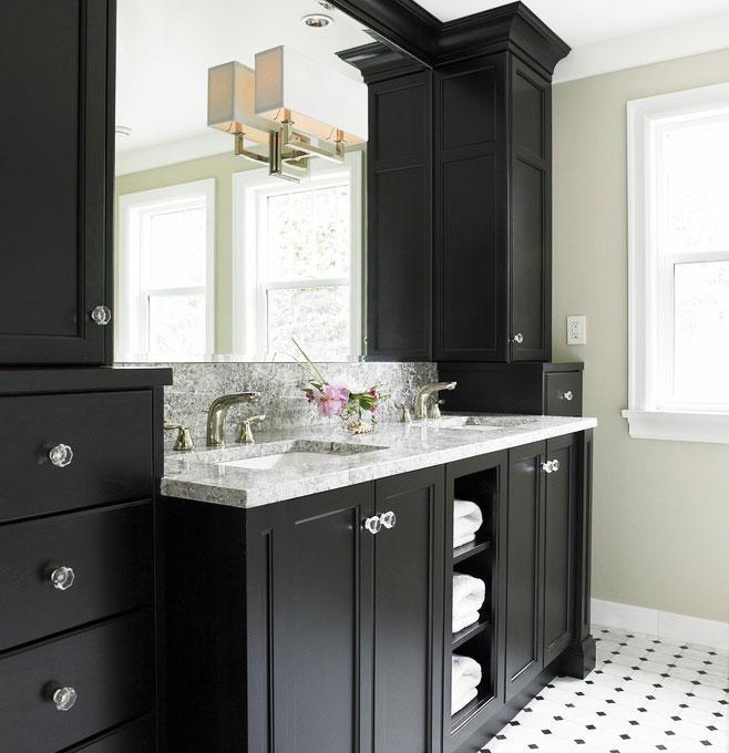 黑色浴室柜效果图