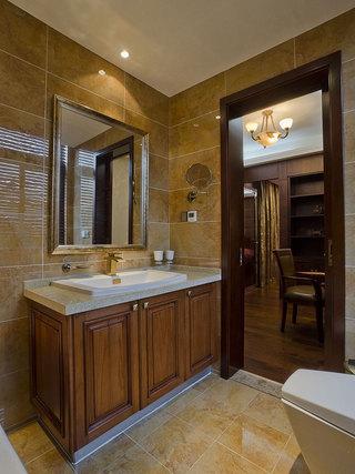美式浴室柜效果图