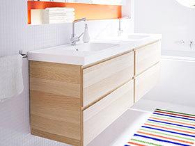 亲近自然的原木色 11张宜家浴室柜效果图