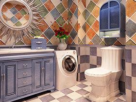蓝色地中海风 12张浴室柜效果图