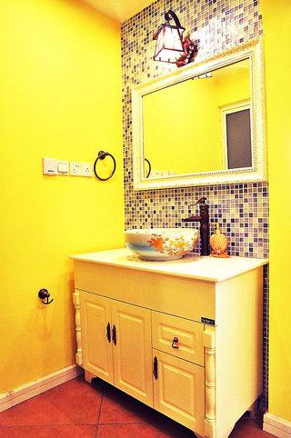 黄色浴室柜设计图