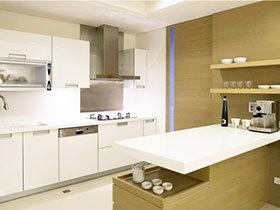 14张厨房隔断柜效果图 隔断收纳两不误