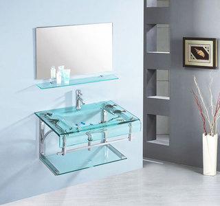 绿色浴室柜设计图