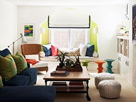 不一样的设计 16张客厅飘窗装修效果图