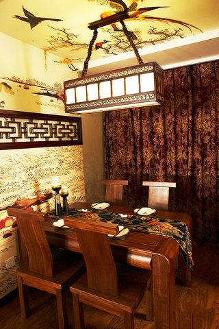 中式餐桌效果图