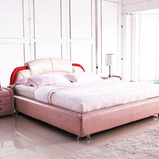 粉色婚床效果图