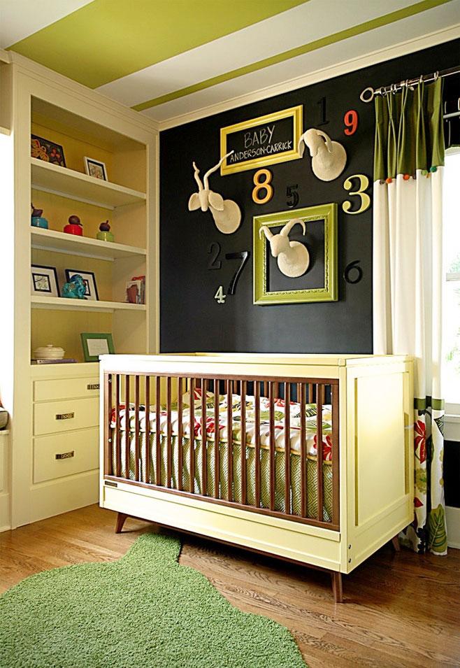 个性儿童房背景墙效果图