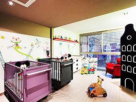 14张儿童房背景墙效果图 打造卡通世界