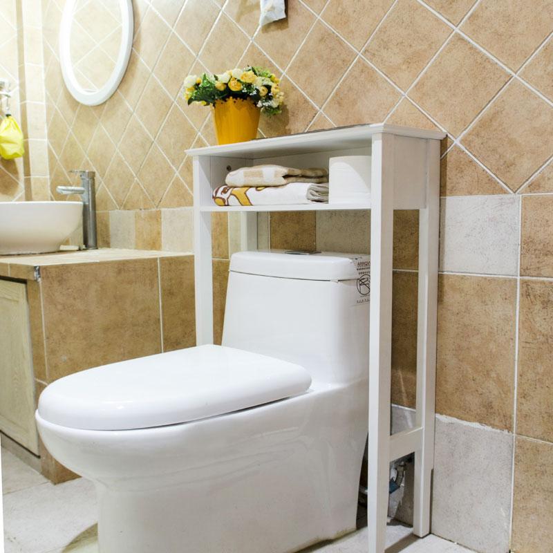 白色卫生间置物架效果图