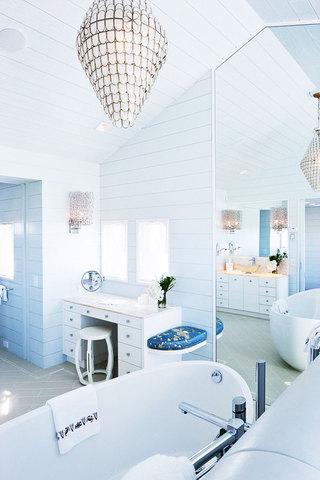蓝色卫生间吊顶设计图