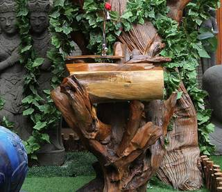 原木洗手台设计图