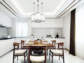 13张中式厨房吊顶效果图 简单复古