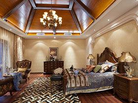 16张美式卧室吊顶装修效果图 典雅大气