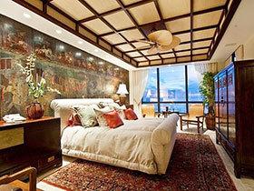 14张中式卧室吊顶装修效果图 浓浓的复古感