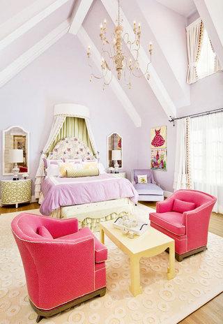 白色卧室吊顶效果图