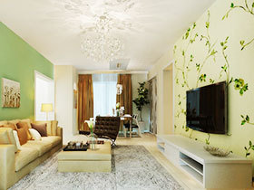 电视墙壁纸图片 11款特色墙面设计