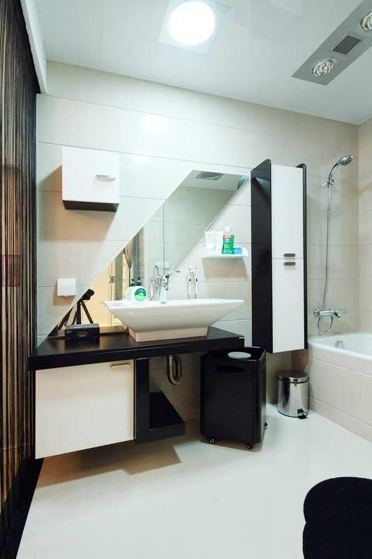 黑白色浴室柜效果图