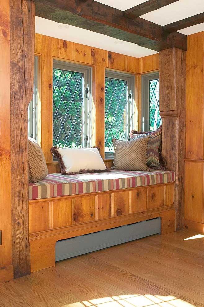 实木飘窗柜设计图