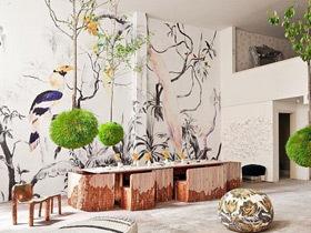 写意中式风情 12款中式手绘墙图片
