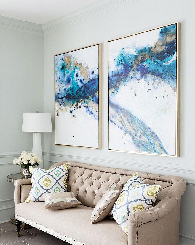 沙发背景墙装饰画图片