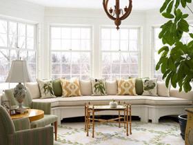 舒适自然飘窗 12款美式弧形飘窗设计
