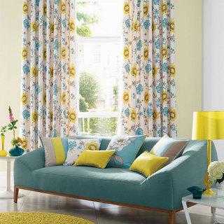 碎花可愛夏季窗簾
