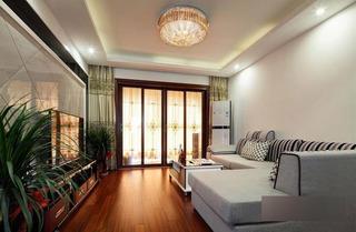 现代简约风格三居室90平米效果图