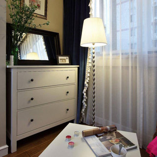 美式风格三居室80平米设计图