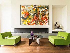 姿色加分 16款装饰画装扮客厅背景墙