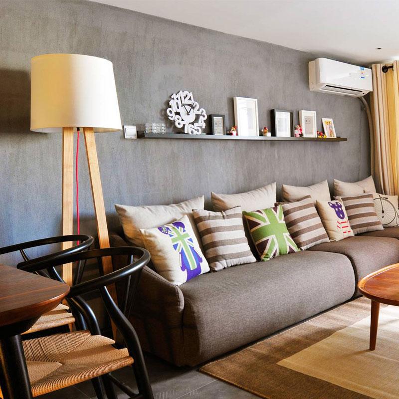 简洁沙发背景墙设计效果图