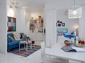 白色纯净北欧风 38平单身公寓年轻人最爱