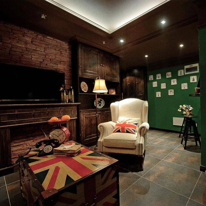 美式风格三居室装修图片