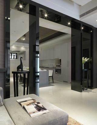 现代简约风格二居室黑白70平米装修图片