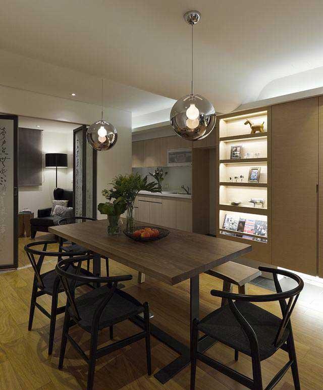 中式清新餐桌设计图片