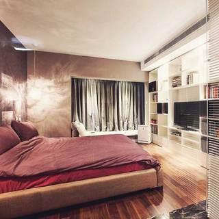 混搭风格二居室110平米设计图