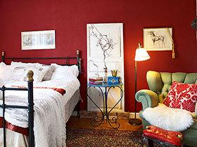 暗红色的成熟韵味 11个优雅暗红色卧室