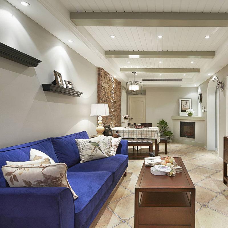 美式风格二居室60平米设计图
