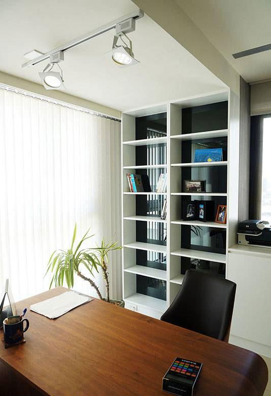现代简约书房设计效果图