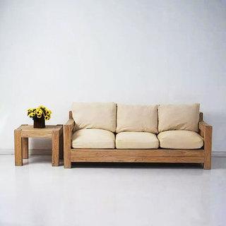 米色新中式客厅沙发