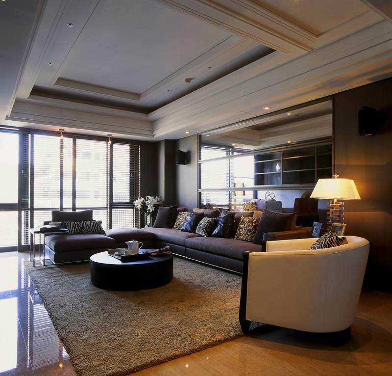 现代简约风格三居室实用100平米装修图片