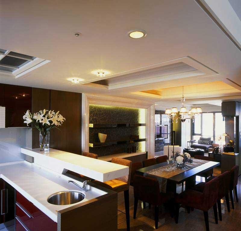 现代简约风格三居室实用100平米设计图