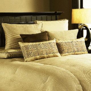 米色中式卧室床品