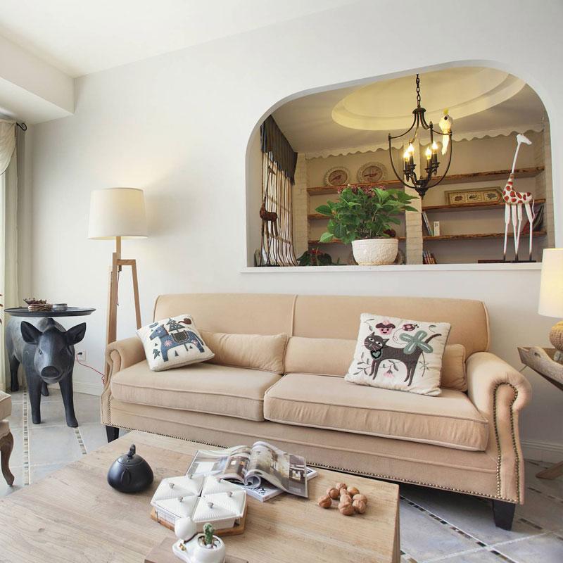 清新客厅沙发设计效果图