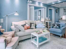水蓝色地中海风情 浪漫犹如仙境的两居室装修
