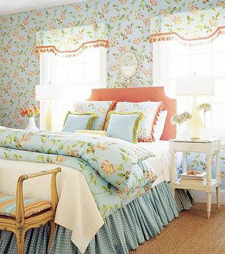 卧室清新花色墙面