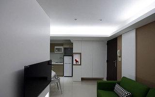 现代简约风格三居室110平米效果图