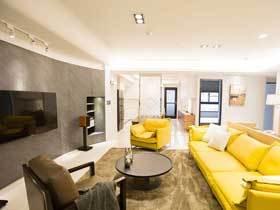 宜家北欧风三居室装修 用黄色点亮家居空间